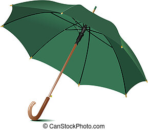 pluie, umbrella., vecteur, ouvert, illustration
