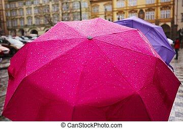pluie, ville