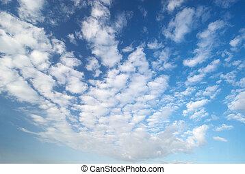 pluizig, wolken