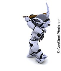 plukken, robot, bijl