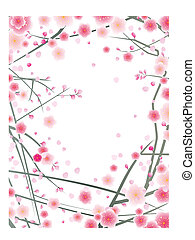plum blossom pattern design background