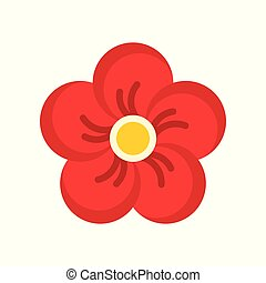 Plum blossom vector, Chinese lunar new year flat icon
