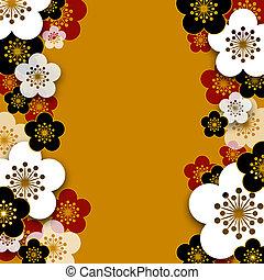 Plum blossoms background