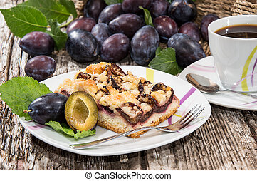 Plum Cake with Coffee
