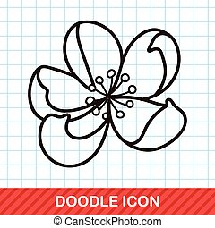 Plum flower doodle