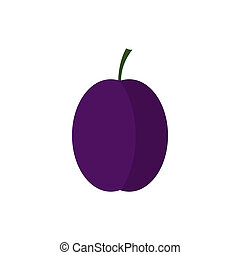 Plum icon in flat style