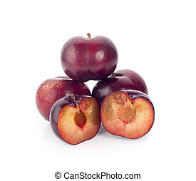 plum isolated on a white background