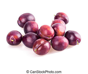 plum isolated on white background
