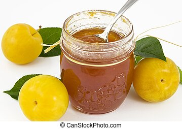 plum jam- marmalade - jam seasonal fruits and spices