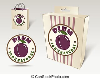 Plum label concept
