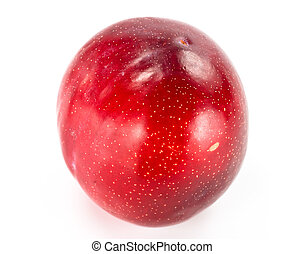 plum on white background