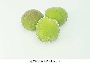 [plum], ume, unripe