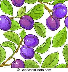 plum vector pattern