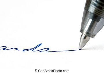 pluma, escritura