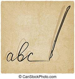 pluma estilográfica, bosquejo