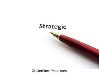 pluma, estratégico
