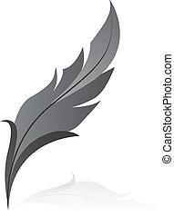 pluma, gris