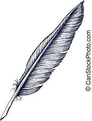 pluma, púa