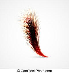 pluma, rojo