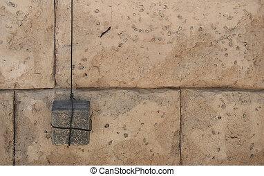 Plumb Line on a Stone Wall