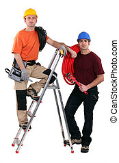 Plumber and an electrician