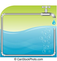 Plumber Background - faucet dropping water perfect for...