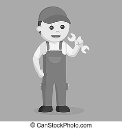 Plumber black and white style