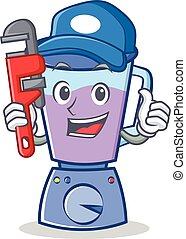 Plumber blender character cartoon style
