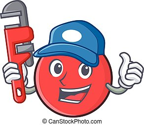 Plumber bowling ball character cartoon