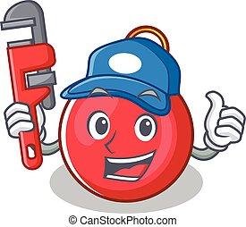 Plumber Christmas ball character cartoon