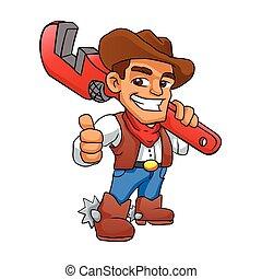 plumber cowboy.