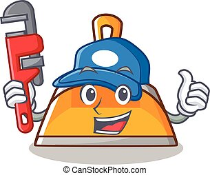 Plumber dustpan character cartoon style