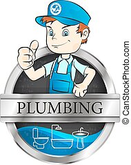 Plumber for repair illustration for business