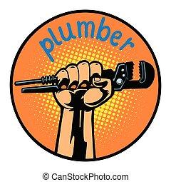 plumber icon symbol circle emblem