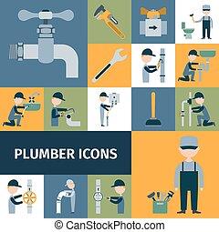 Plumber Icons Set