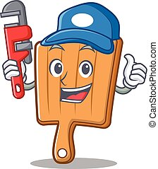 Plumber kitchen board character cartoon