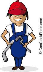 Plumber man career cartoon character
