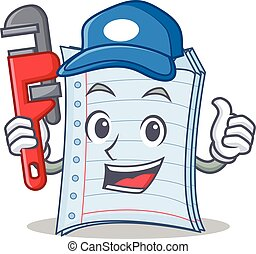 Plumber notebook character cartoon design