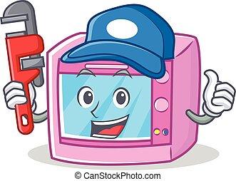 Plumber oven microwave character cartoon