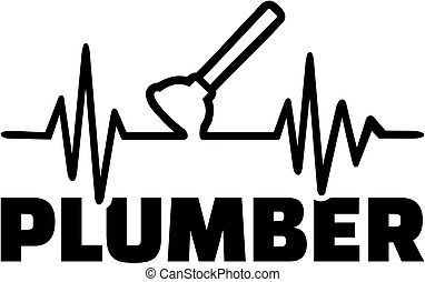 Plumber plunger heartbeat line