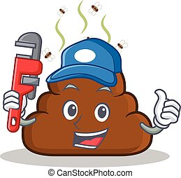 Plumber Poop emoticon character cartoon