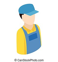 Plumber repairman isometric 3d icon