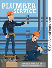 Plumber service, heating pipes replacement