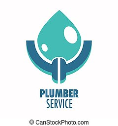 Plumber service isolated icon, plumbing repair works