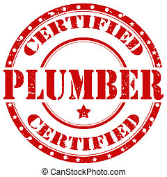 Plumber-stamp - Grunge rubber stamp with text Plumber, ...
