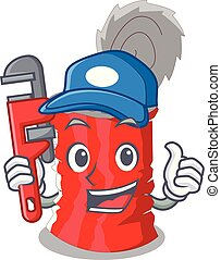 Plumber tincan ribbed metal character a canned vector...