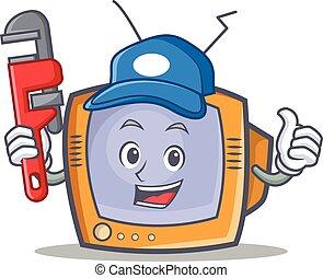 Plumber TV character cartoon object