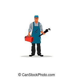 Plumber. Vector Illustration.
