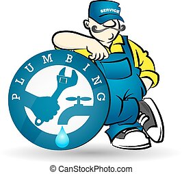 Plumber vector - Plumber image for business, sanitary...