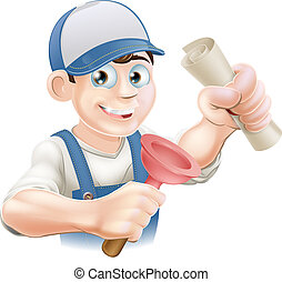 Plumber with qualification